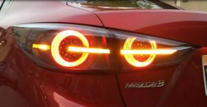 14-18 Mazda3 AXELA 4D LED Tail Lights Lamp (Black)