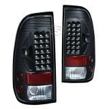 99-07 FD F250 LED Tail Lights Lamp (Black)
