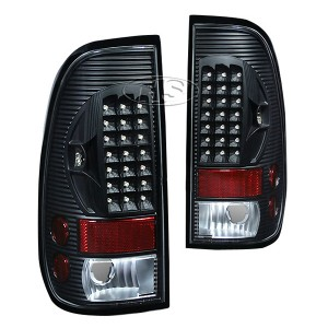 99-07 FD F250 LED Tail Lights Lamp (Black)