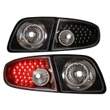 03-06 Mazda3 4D LED Tail Lights Lamp (Black)