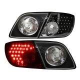 03-06 Mazda3 5D LED Tail Lights Lamp (Black)