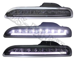 05-08 PS Boxter 987 LED DRL Bumper Driving Light Lamps (Smoke)