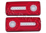 1986-ON BENZ G55 LED Taillight Lamps Light Bar (red_clear)